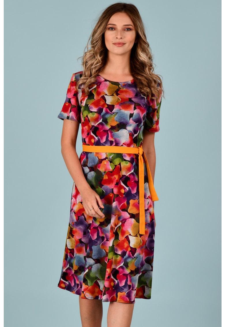 Rochie vaporoasa cu imprimeu floral Format-Lady
