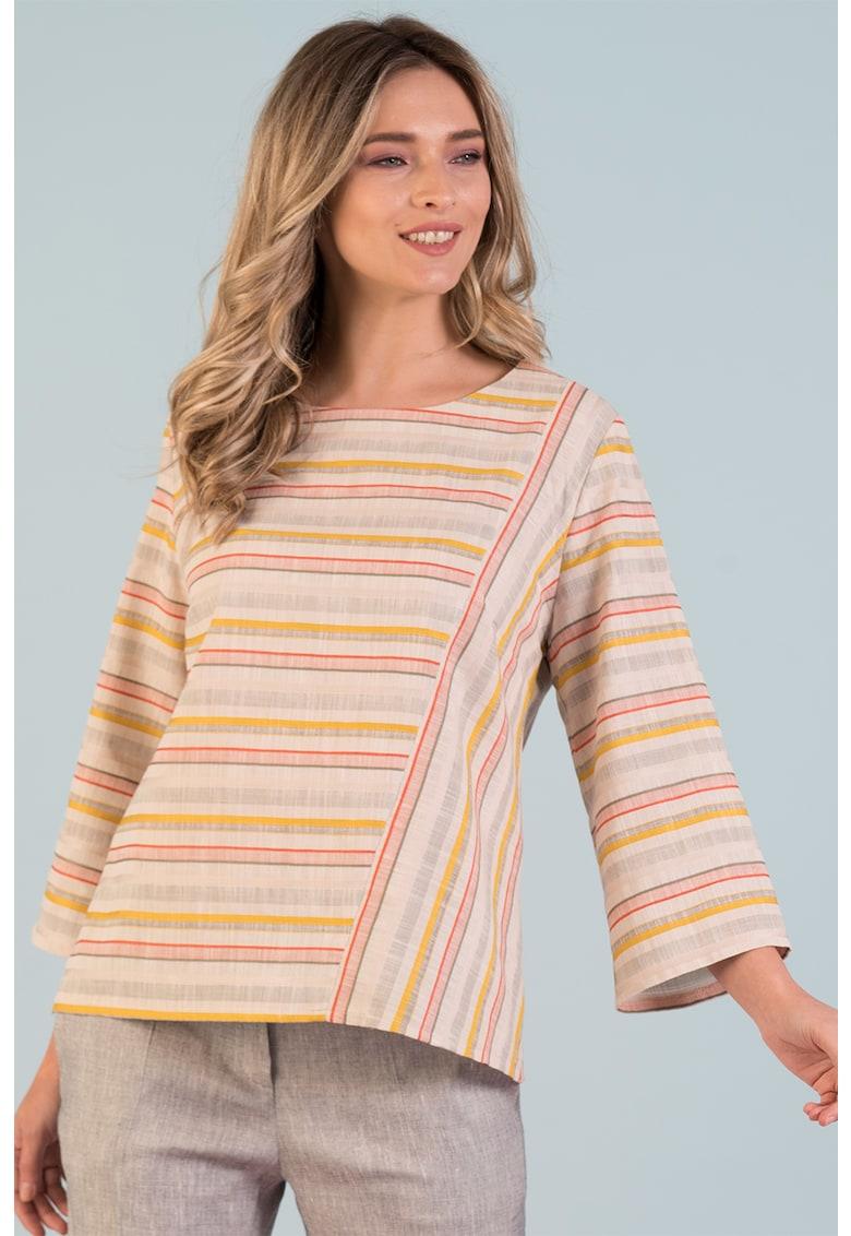 Bluza cu maneci 3/4 Format Lady fashiondays.ro