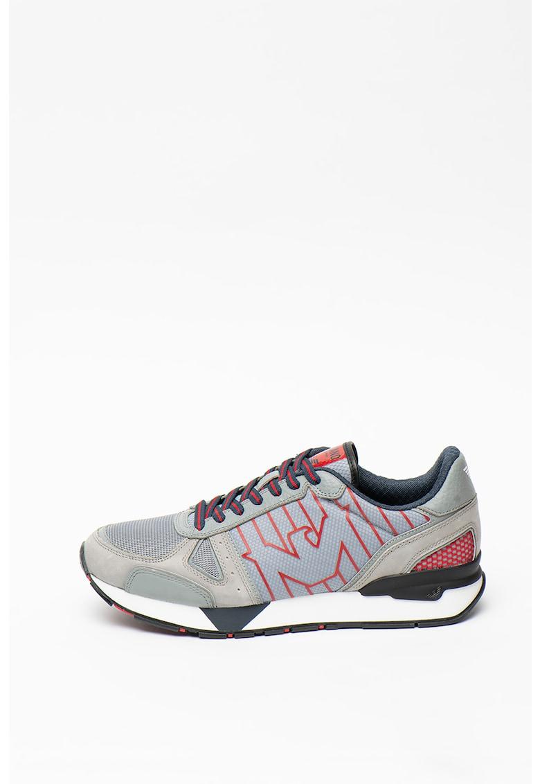 Pantofi sport de piele - cu insertii de plasa imagine