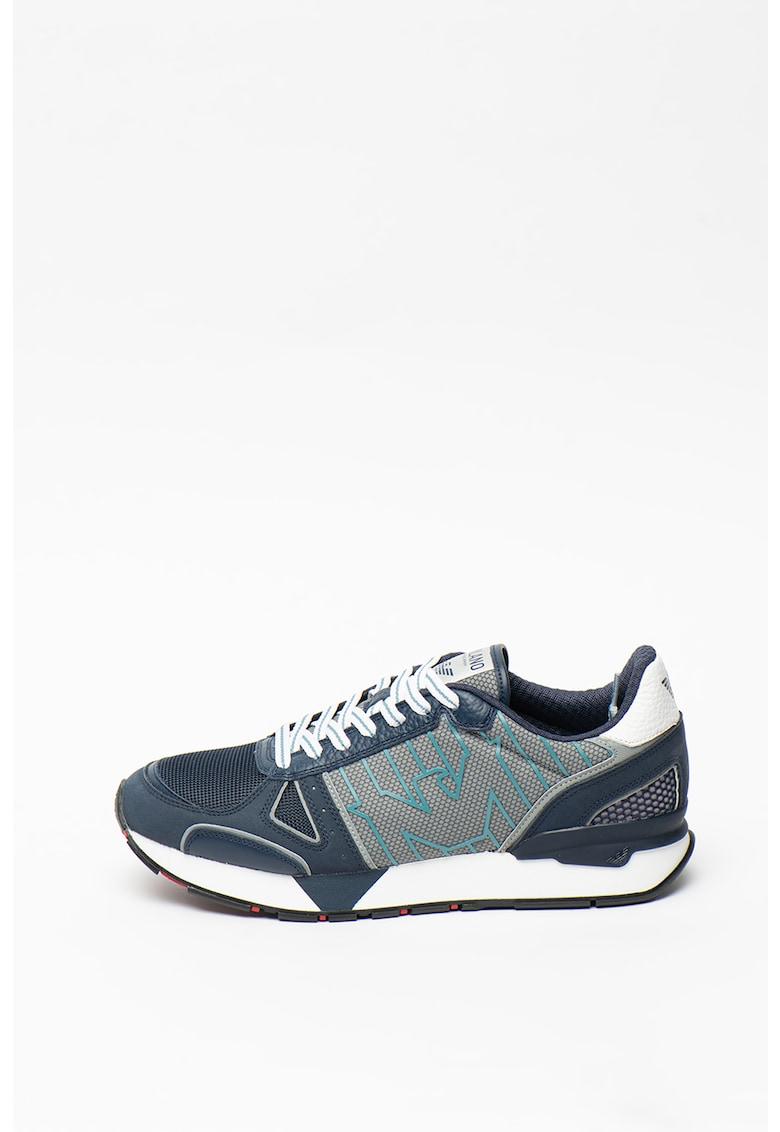 Pantofi sport de piele - cu insertii de plasa