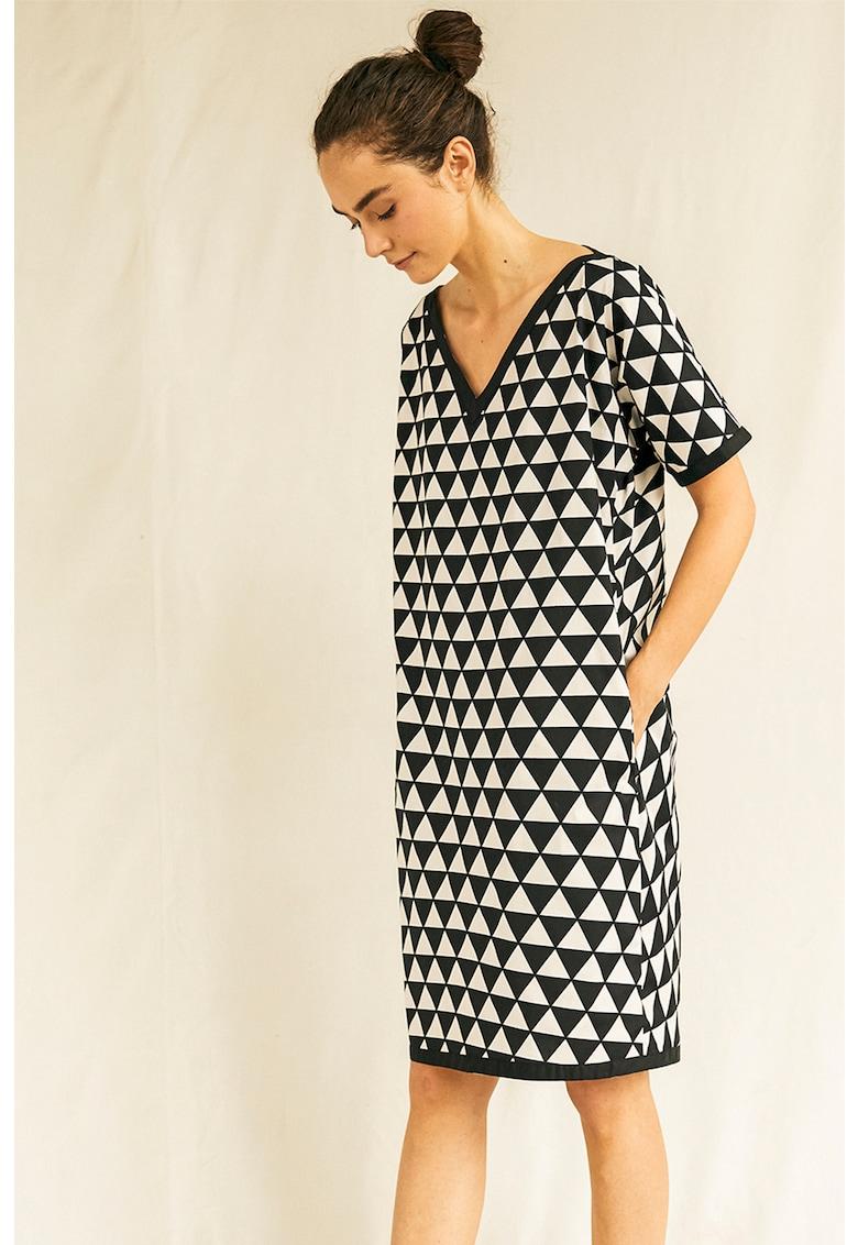 Rochie cu model geometric