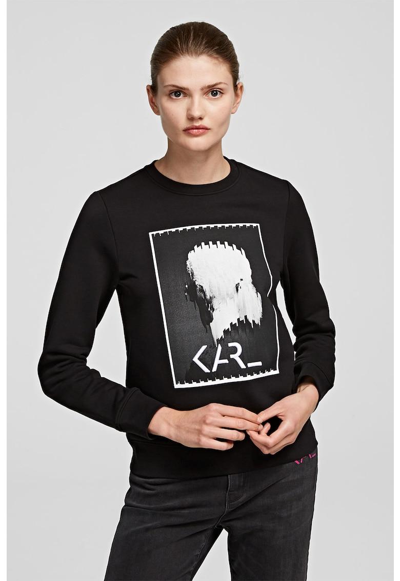 Bluza sport cu imprimeu foto imagine fashiondays.ro