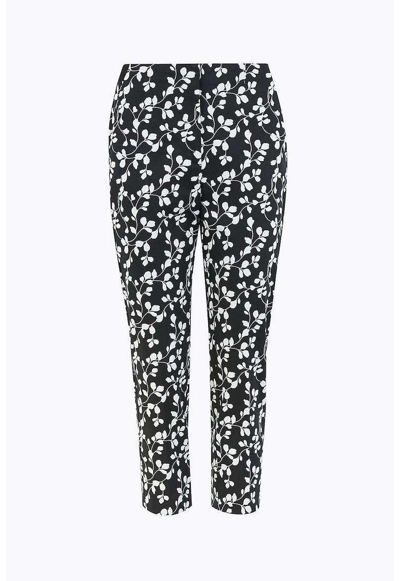 Pantaloni capri slim fit cu imprimeu floral Mia imagine