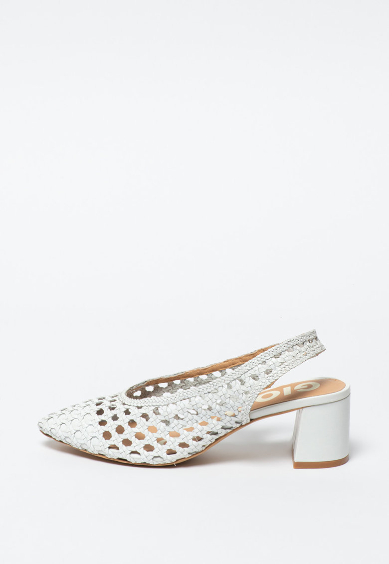 Gioseppo Pantofi slingback de piele cu aspect tesut Canadice