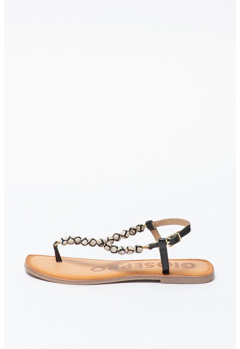 Sandale cu bareta separatoare si margele Creswell