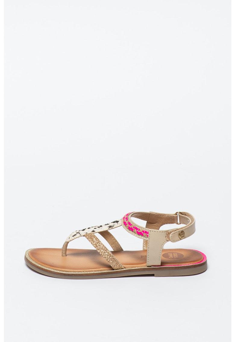Sandale de piele cu bareta separatoare Scalea imagine fashiondays.ro