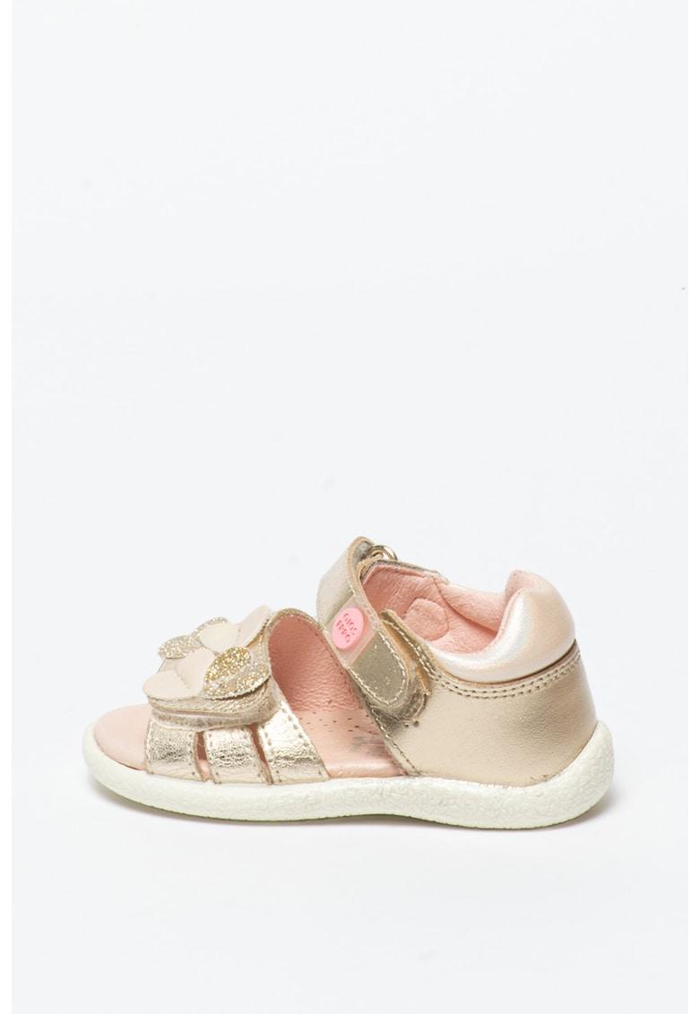 Sandale de piele cu aspect metalizat Orosi fashiondays.ro