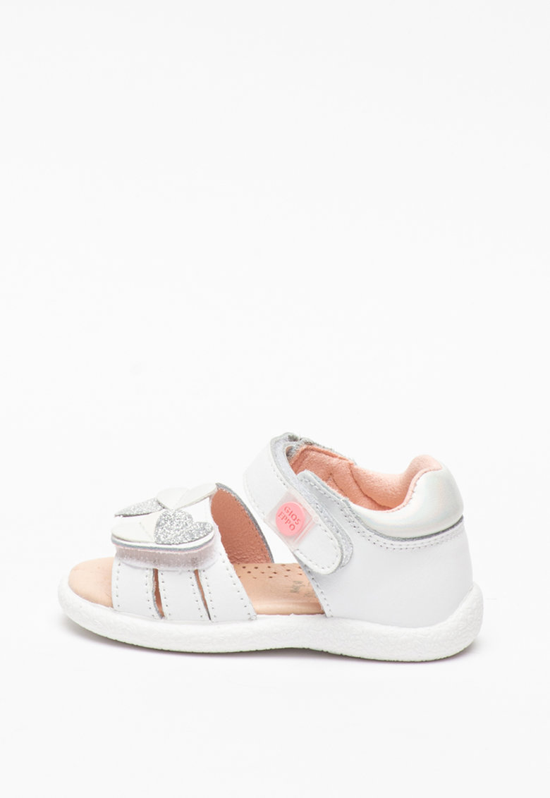 Sandale de piele peliculizata - cu velcro Orosi imagine fashiondays.ro
