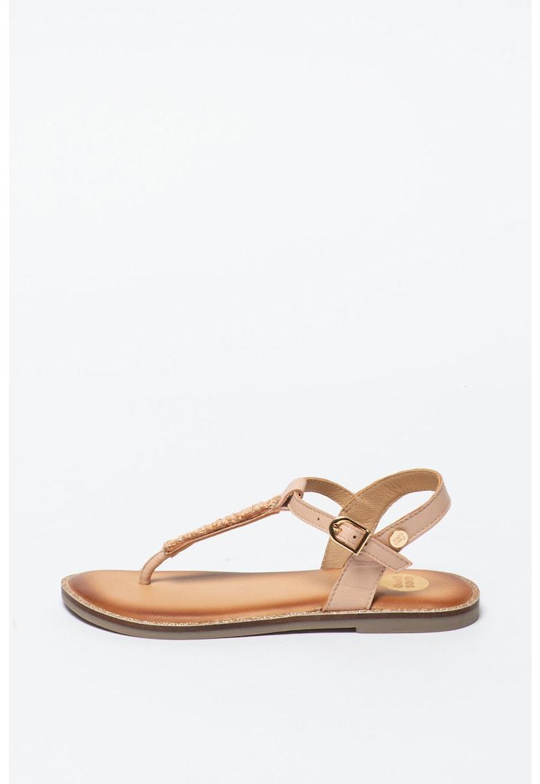 Sandale de piele cu bareta separatoare Clavier