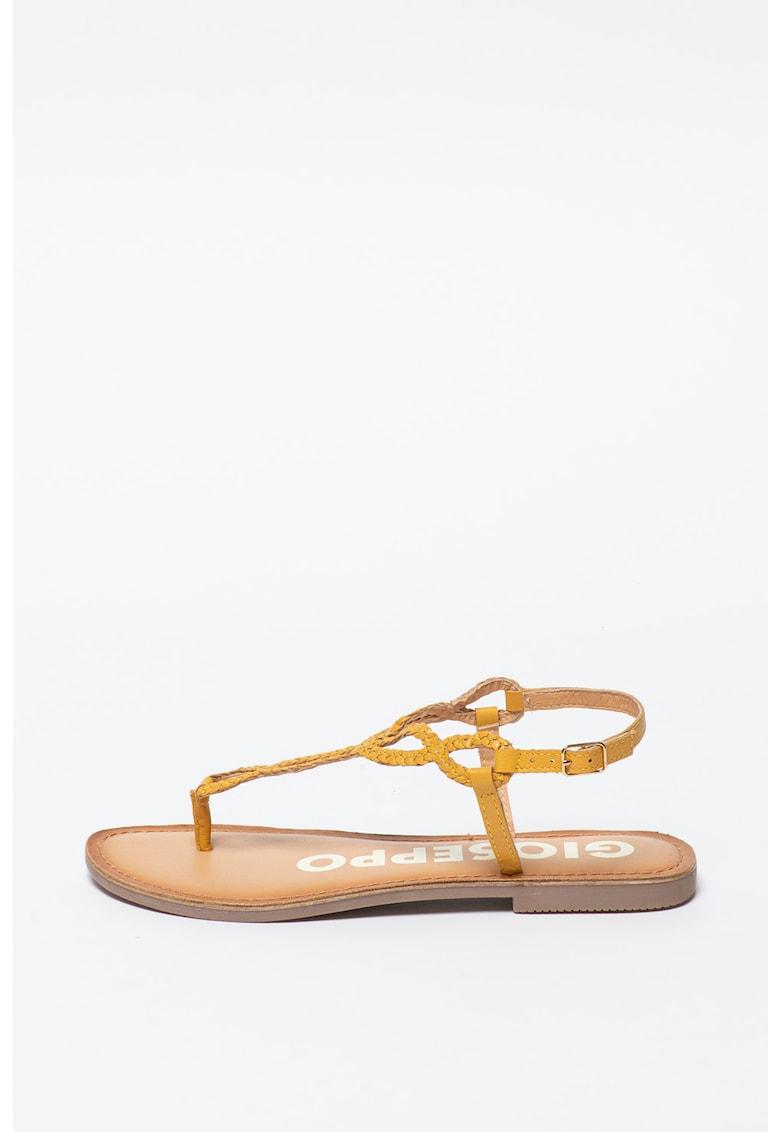 Sandale de piele cu bareta separatoare Fyffe