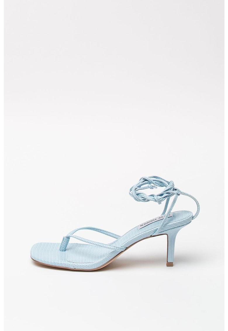 Sandale din piele ecologica - cu model petrecut Lori