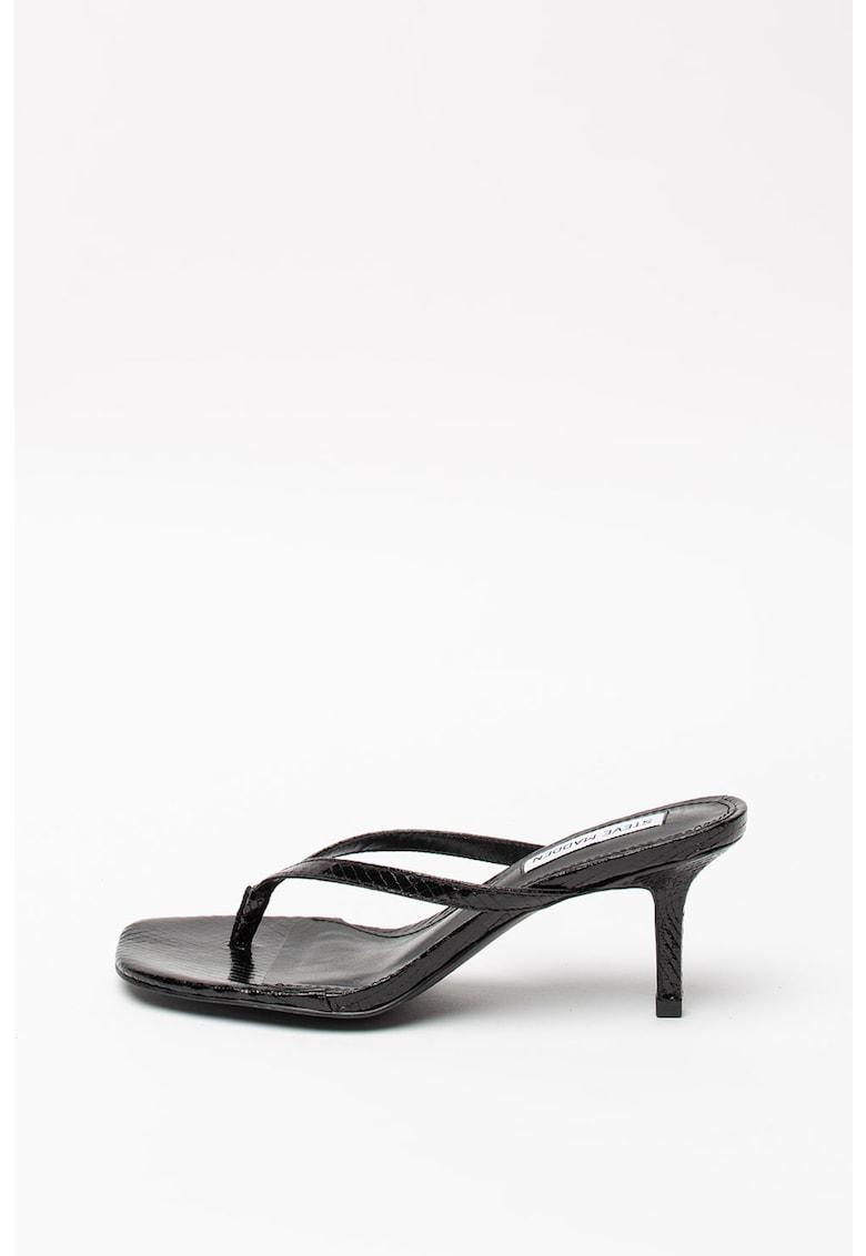 Papuci cu toc si aspect de piele de sarpe Melrose imagine
