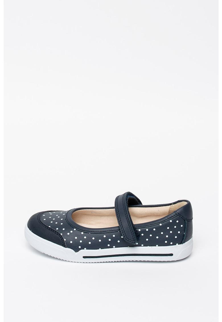 Pantofi Mary Jane de piele - cu imprimeu cu buline Emery Halo