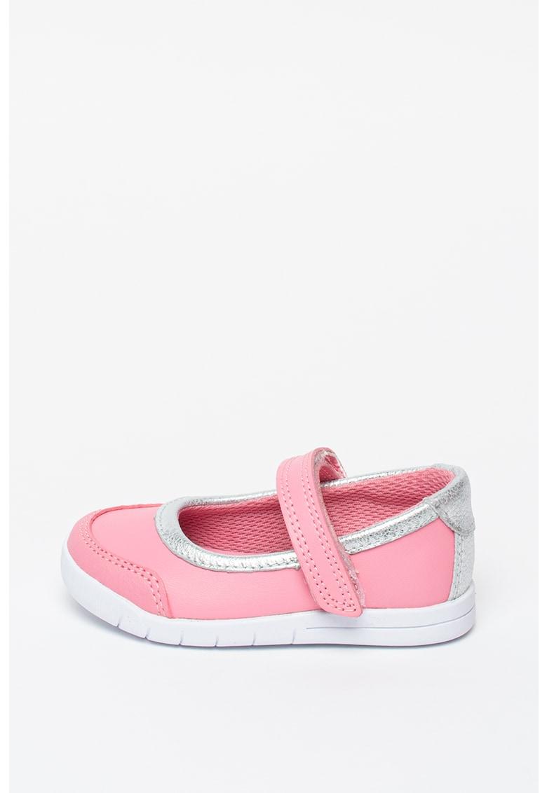 Pantofi Mary Jane de piele - cu insertii de piele ecologica Emery Halo