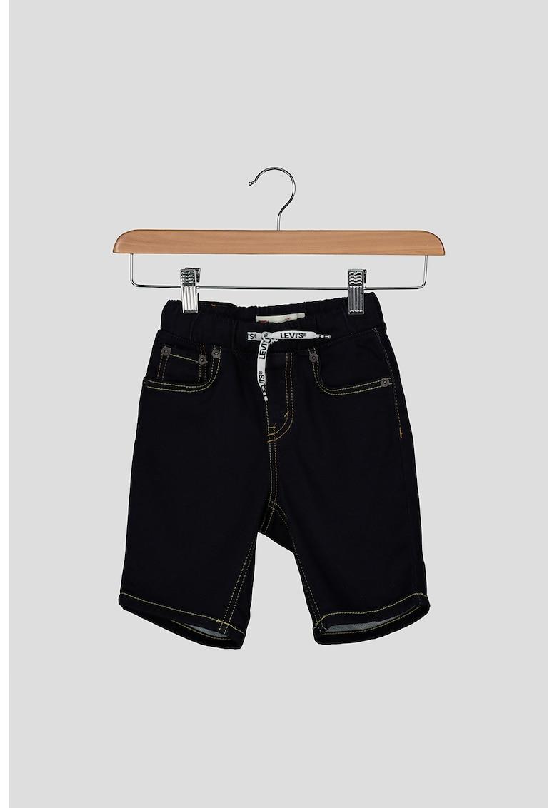 Pantaloni scurti de denim cu cusaturi contrastante imagine fashiondays.ro 2021
