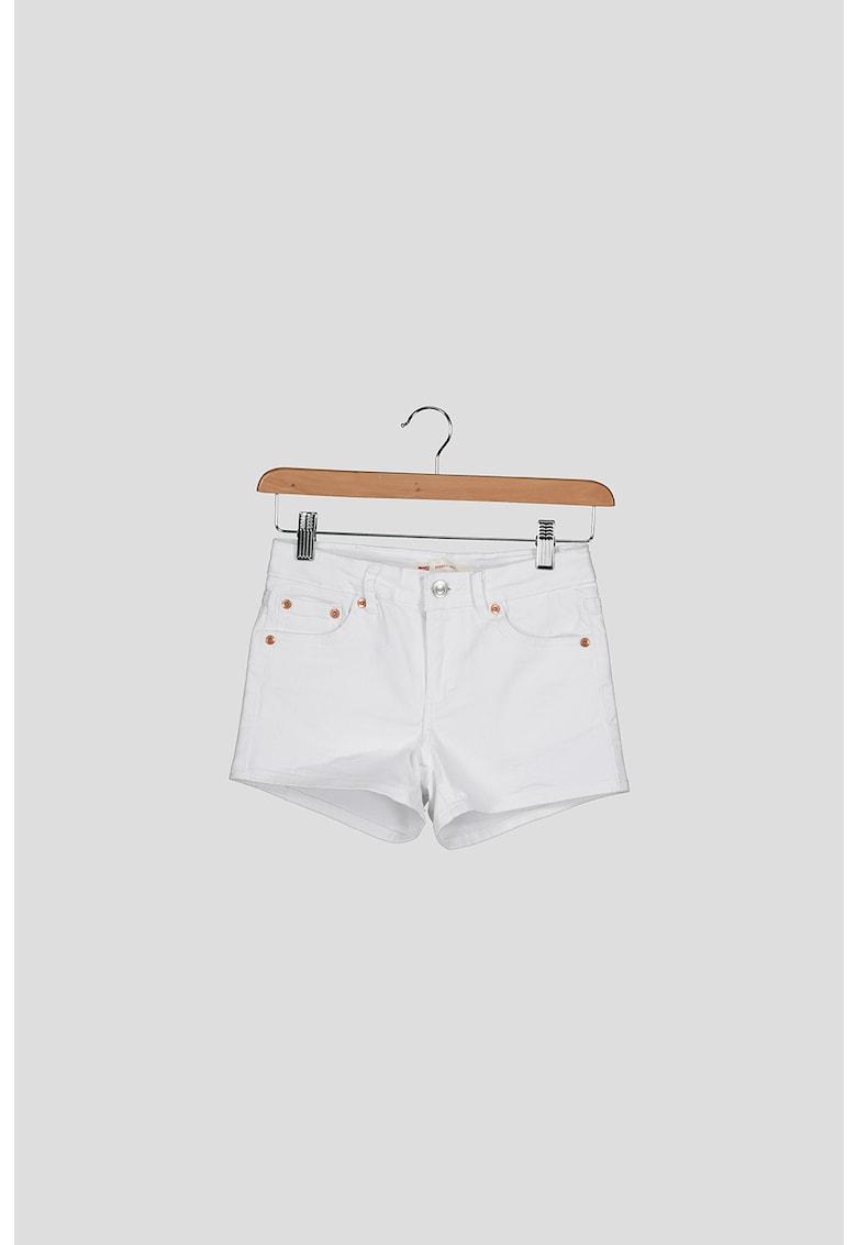 Pantaloni scurti de denim cu detalii contrastante fashiondays.ro