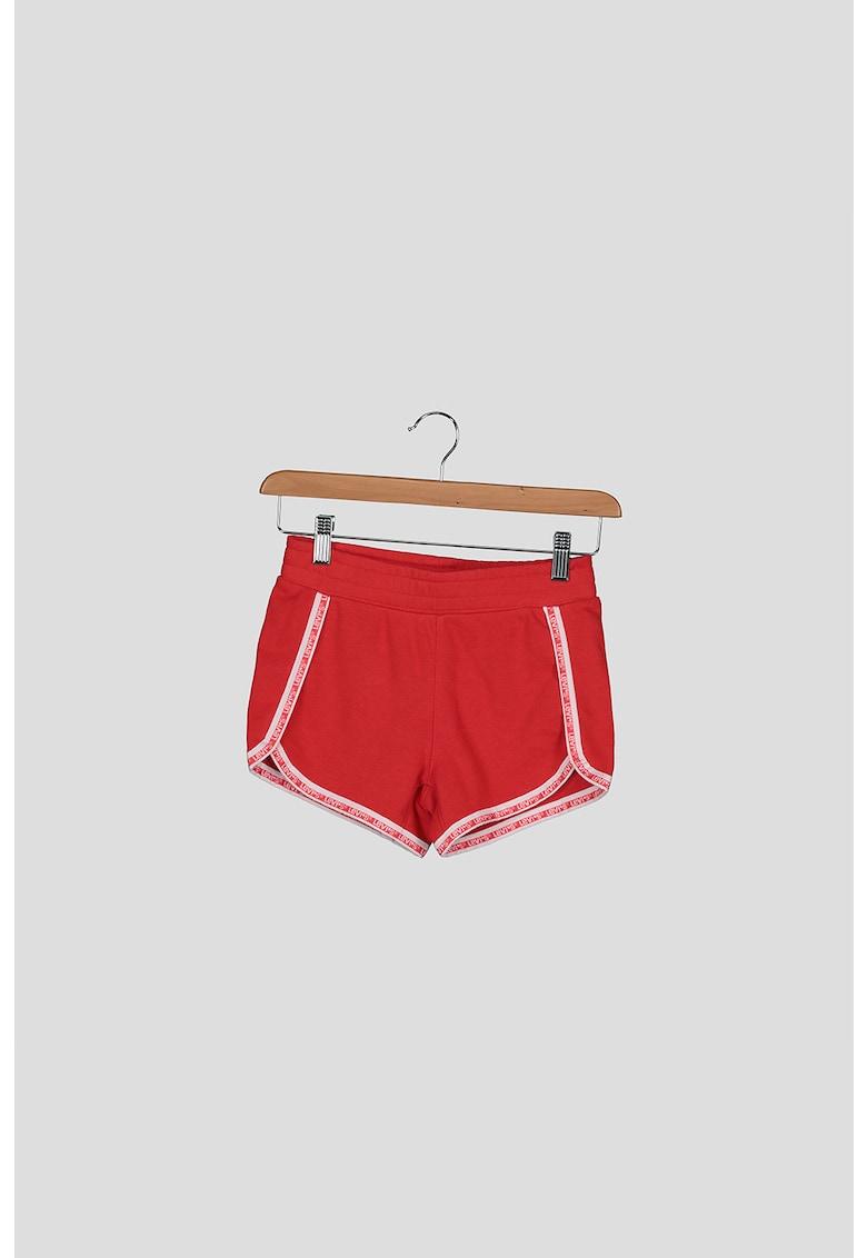 Pantaloni scurti cu garnituri logo imagine fashiondays.ro