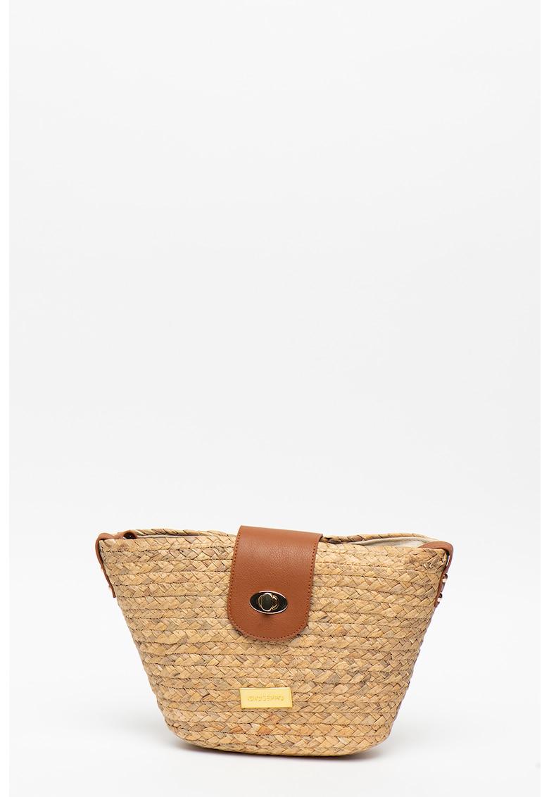 Gioseppo Geanta shopper de rafie - cu garnituri de piele ecologica Guirec