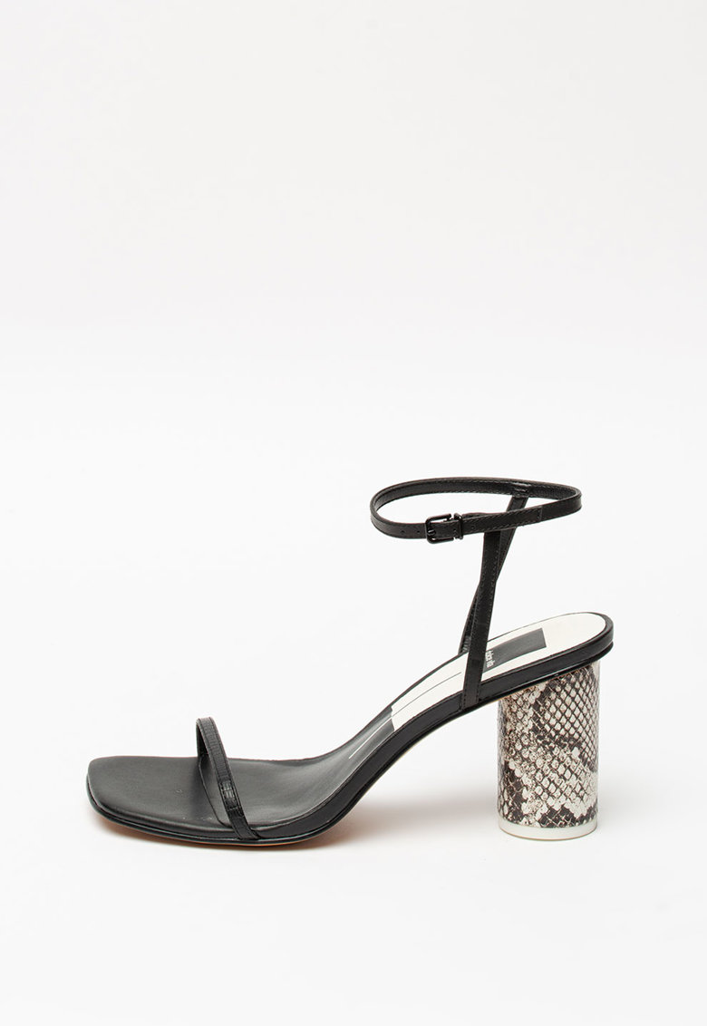 Sandale de piele si piele ecologica - cu toc masiv Naomey