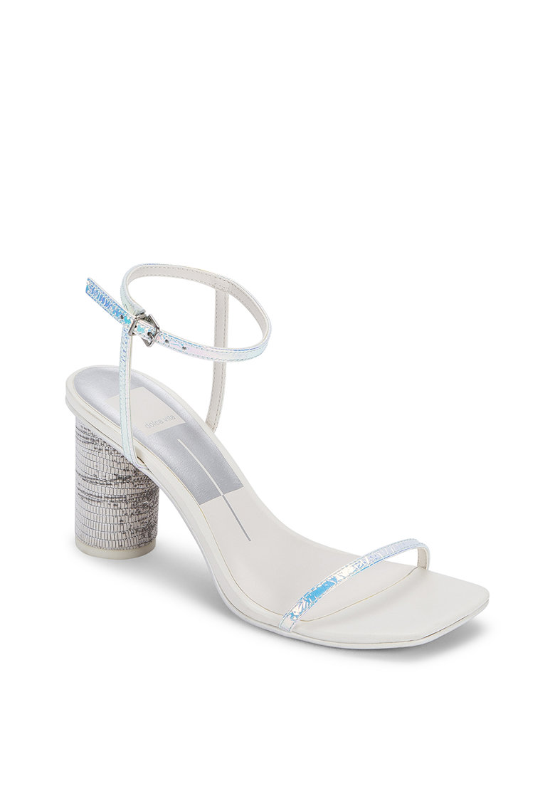 Sandale din piele cu toc cilindric Naomey Dolce Vita fashiondays.ro