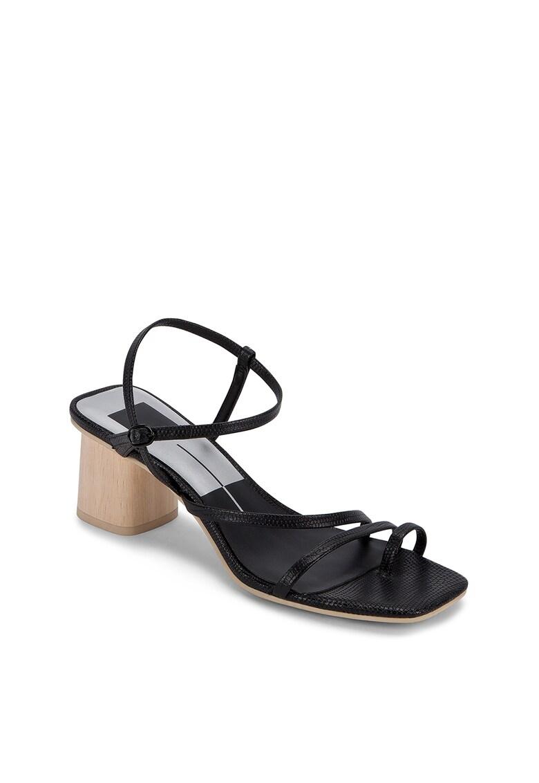 Sandale din piele cu toc masiv Zyda poza fashiondays