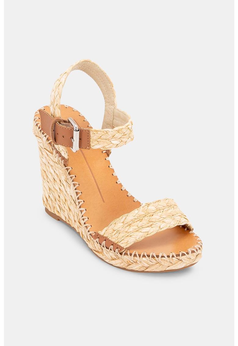 Sandale din piele - cu talpa wedge Niko