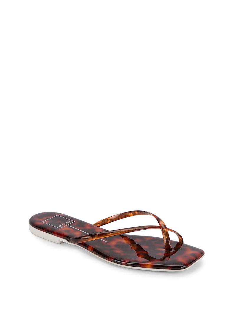 Papuci flip-flop din piele ecologica Lyza