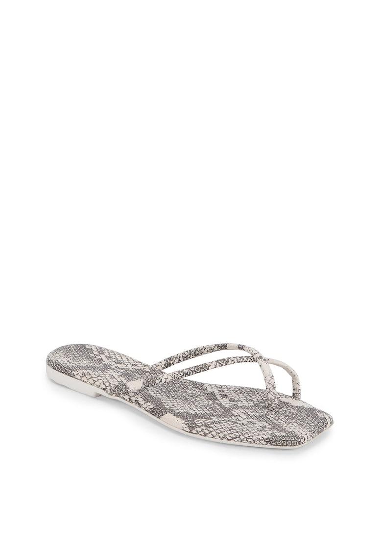 Papuci flip-flop din piele ecologica Lyza imagine fashiondays.ro