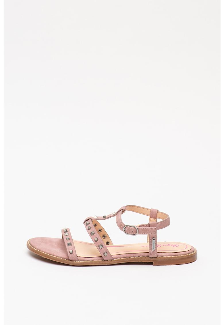 Sandale de piele ecologica - cu tinte Elsa