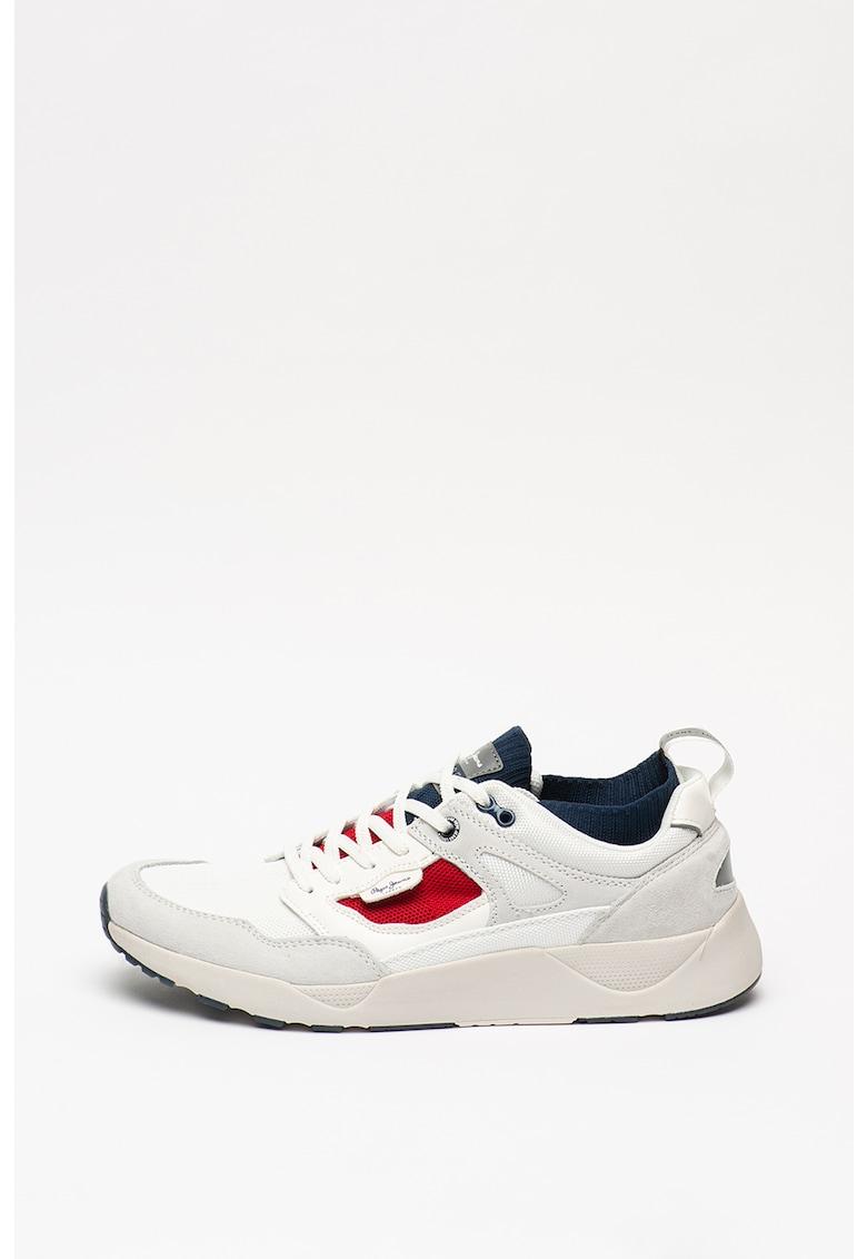 Pantofi sport cu insertii de piele intoarsa Orbital