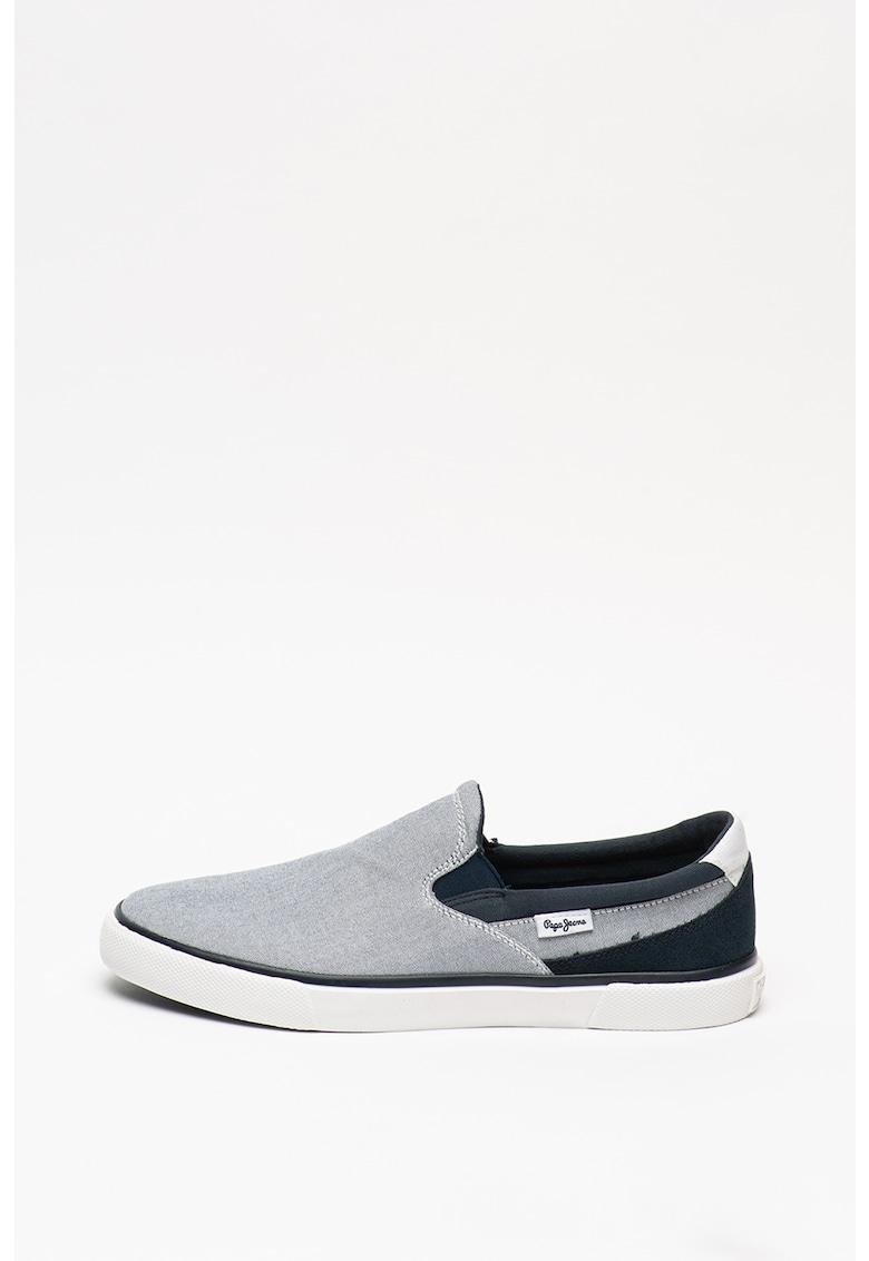 Pantofi loafer cu insertii de piele Kenton imagine