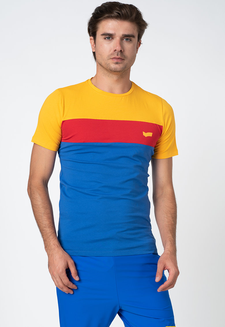 Tricou cu model colorblock imagine fashiondays.ro