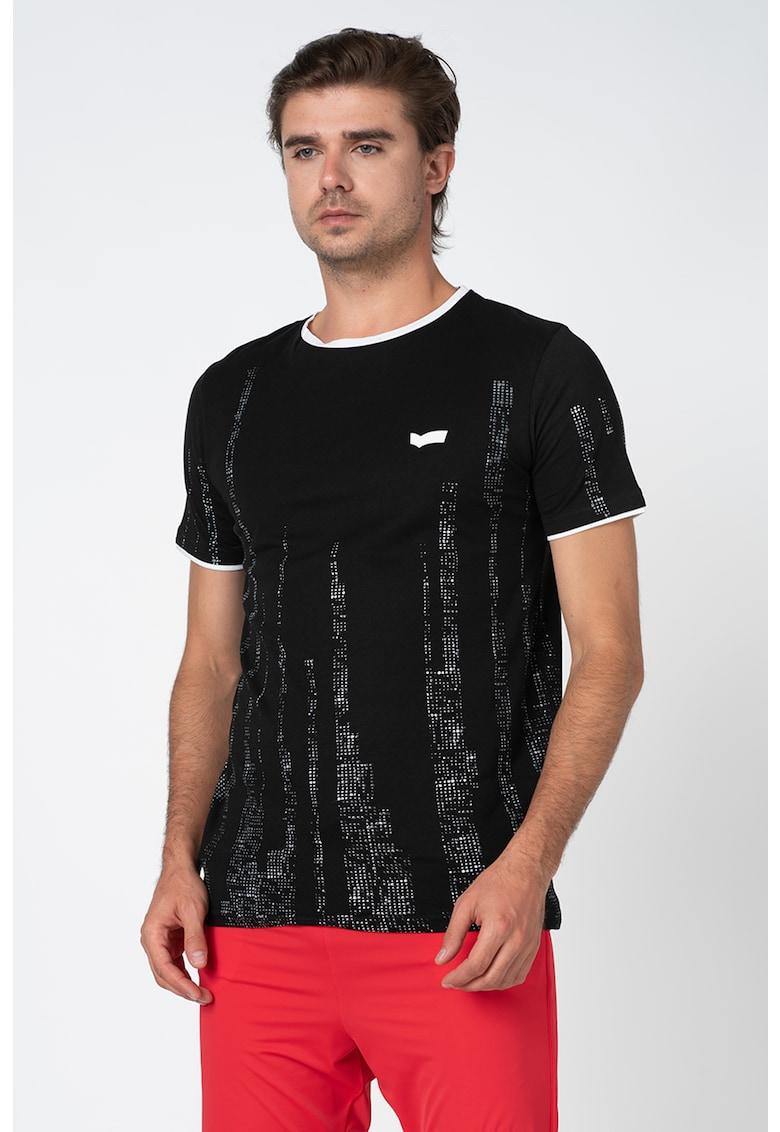 Tricou cu decolteu la baza gatului poza fashiondays