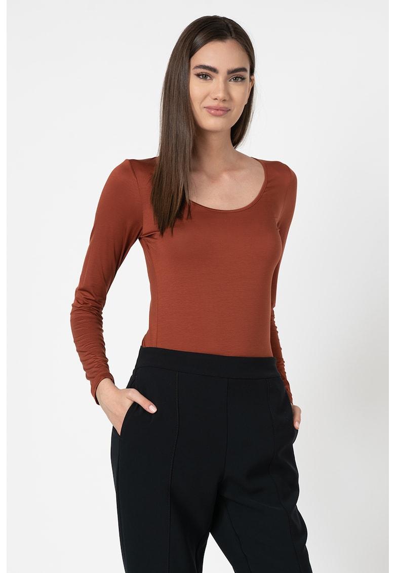Bluza din amestec de lyocell imagine