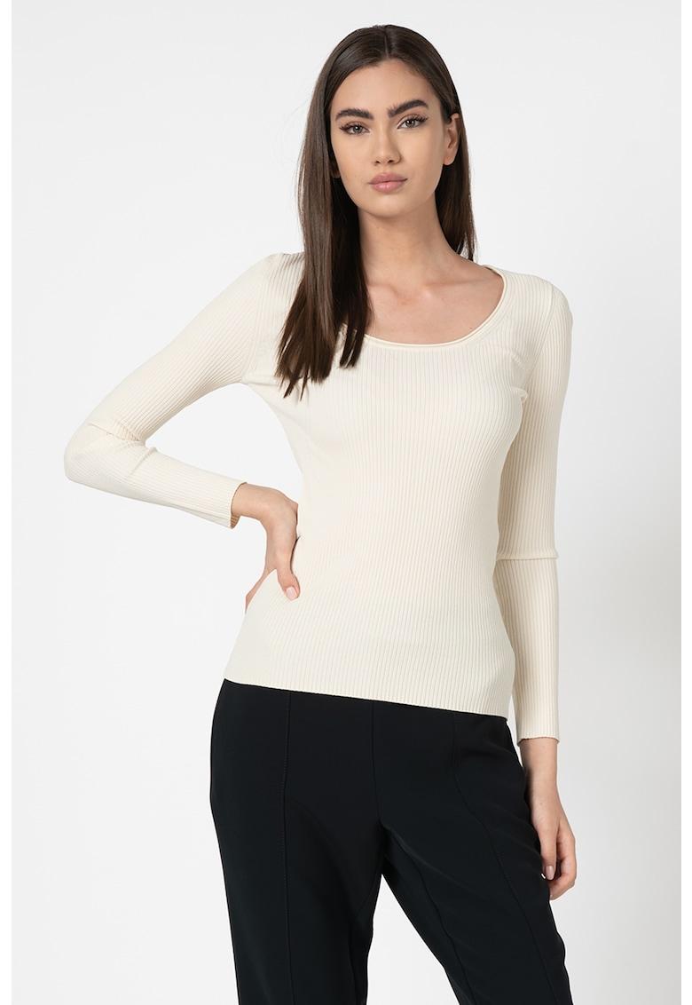 Bluza din tricot fin - cu aspect striat