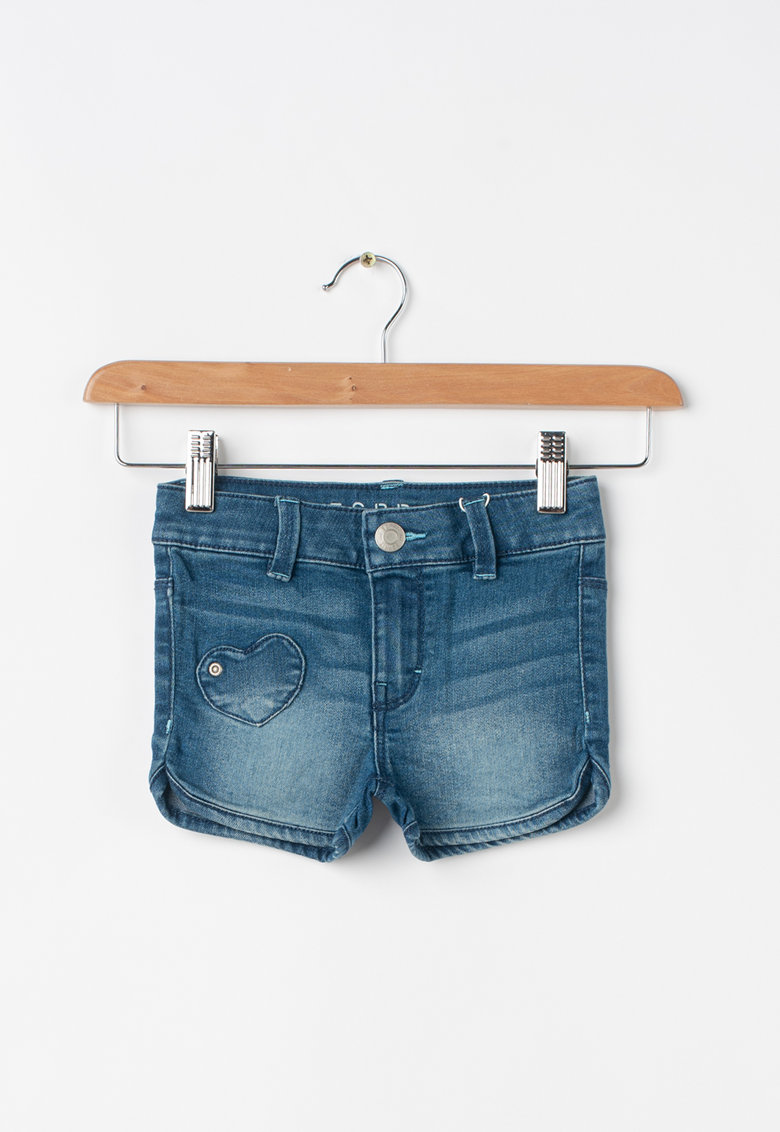Pantaloni scurti din denim - cu buzunare in forma de inima fashiondays.ro