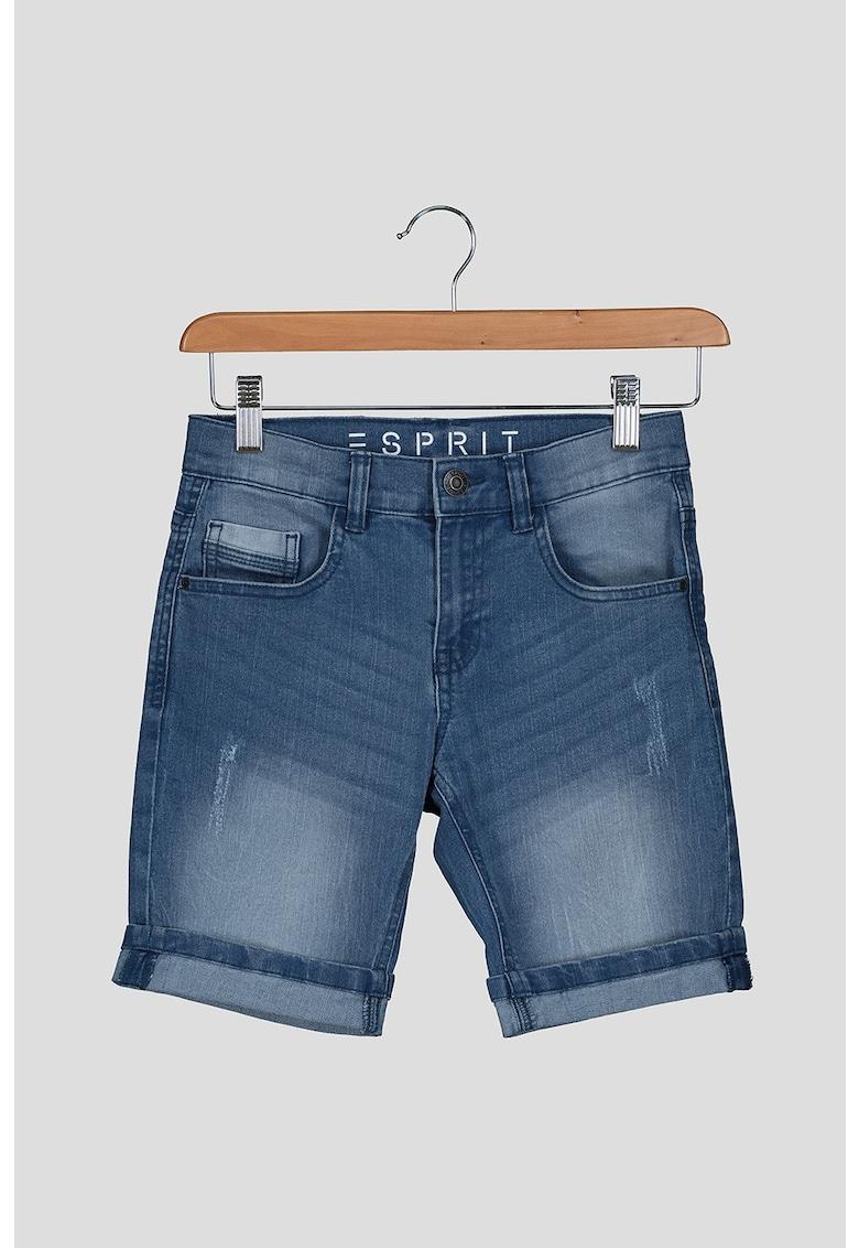 Pantaloni scurti din denim - cu talie medie fashiondays.ro