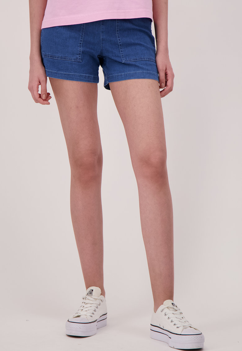 Pantaloni scurti din denim cu buzunare oblice