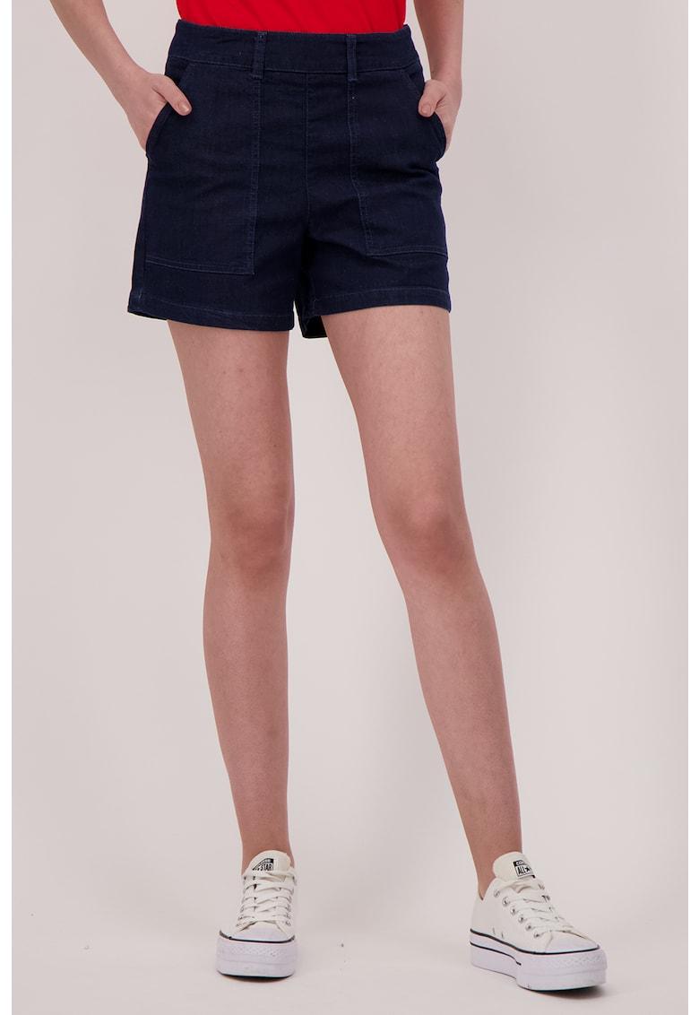 Pantaloni scurti din denim cu buzunare oblice imagine fashiondays.ro