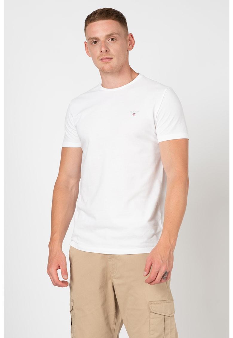 Tricou slim fit din material pique imagine