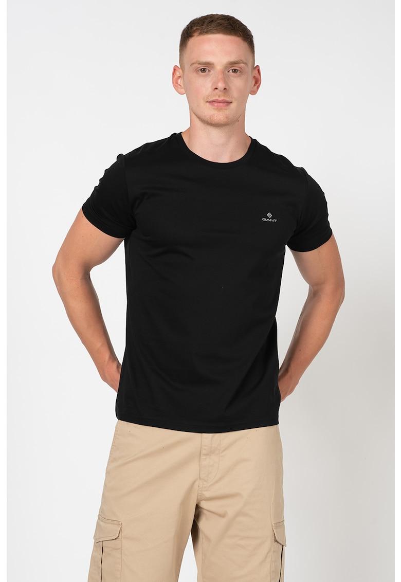 Tricou slim fit cu logo brodat imagine fashiondays.ro