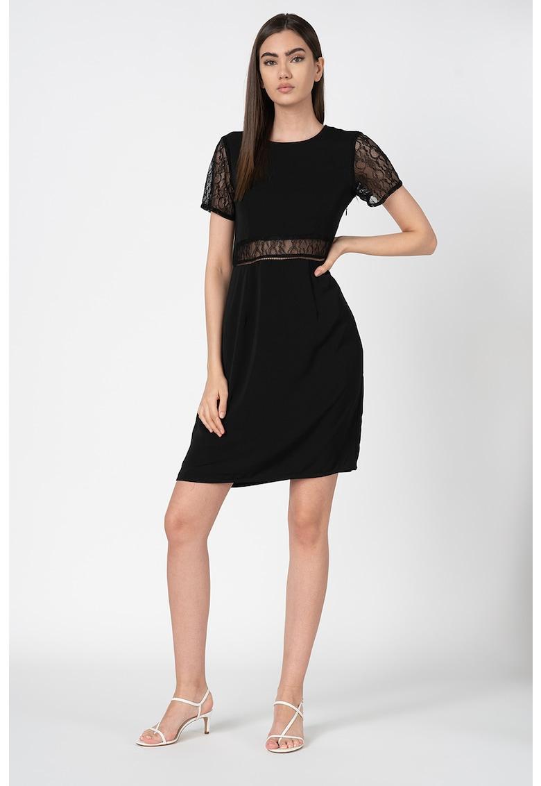 Rochie mini cu insertii de dantela Sia Vero Moda fashiondays.ro