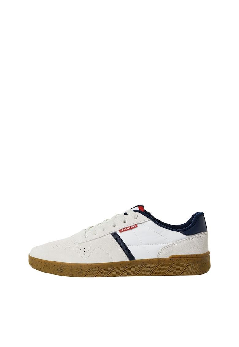 Pantofi sport cu insertii din piele intoarsa 2