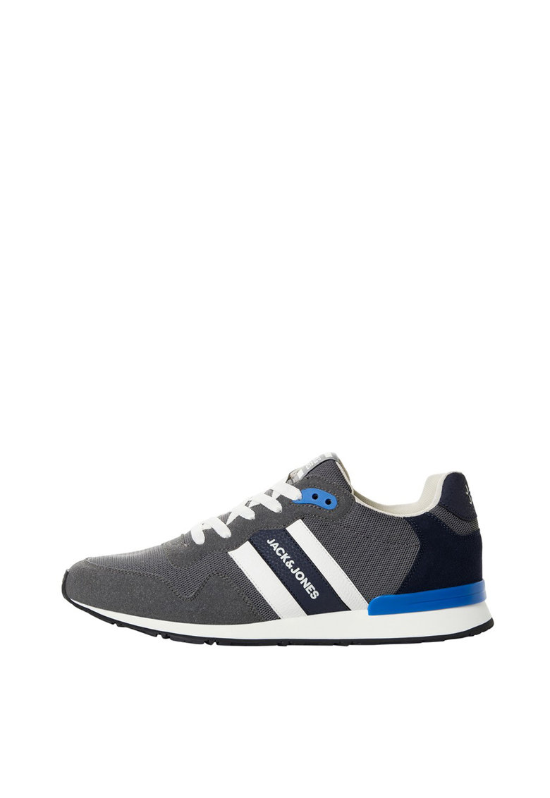 Pantofi sport cu insertii din piele intoarsa 1