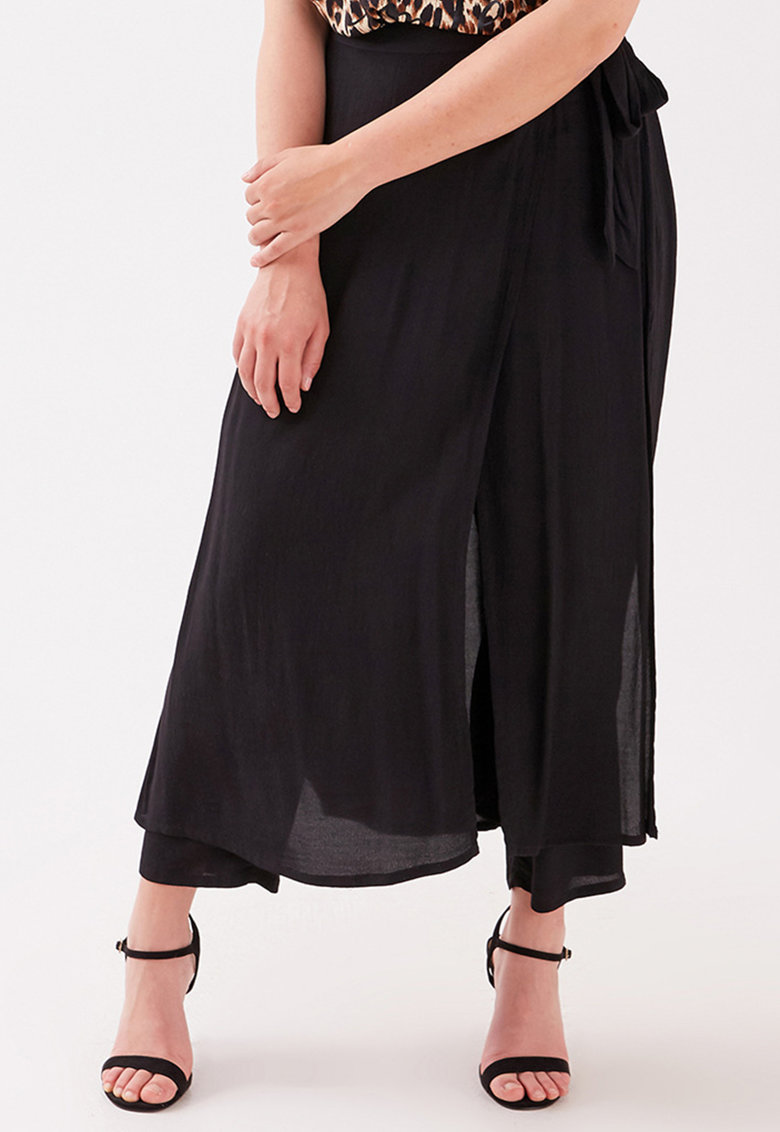Pantaloni cu strat exterior vaporos