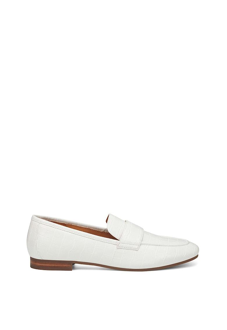Pantofi loafer din piele ecologica - cu aspect de piele de crocodil Admire imagine