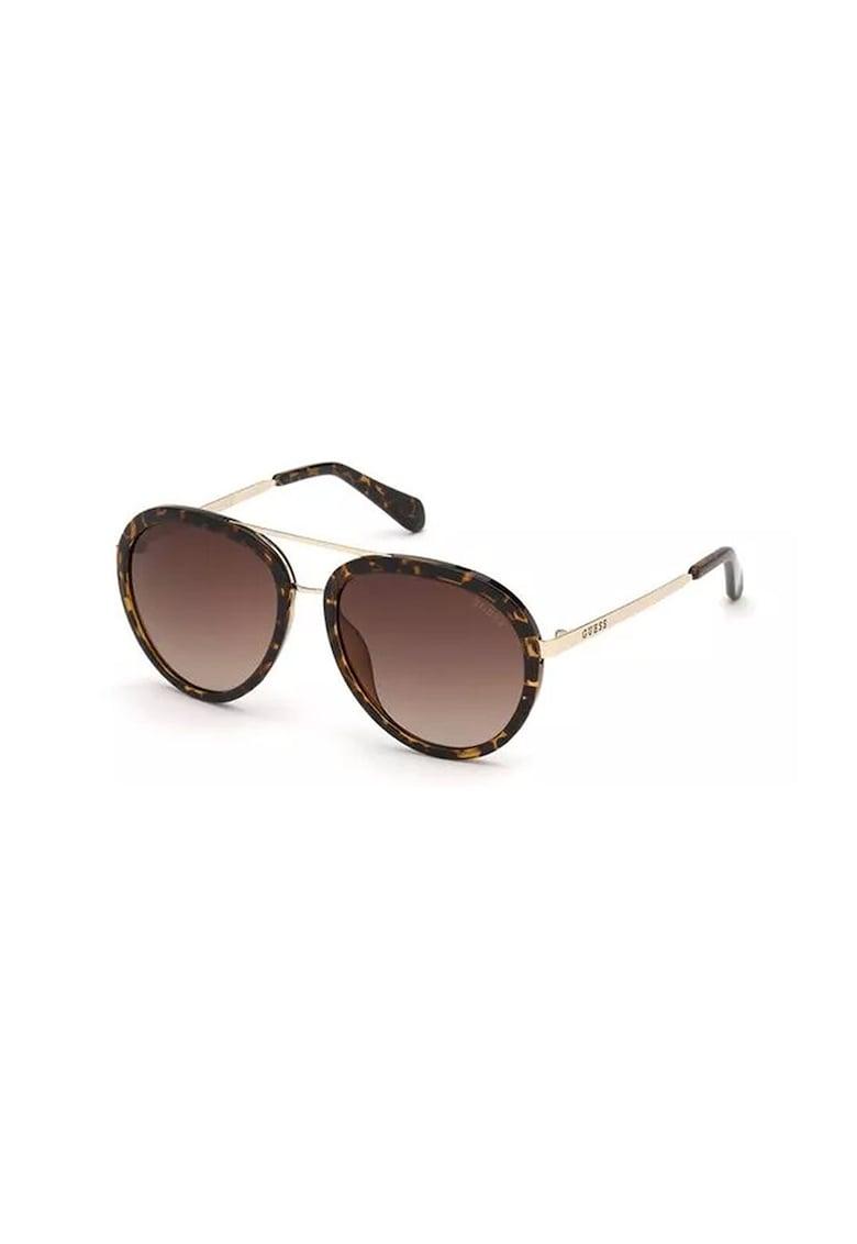 Ochelari de soare aviator unisex cu lentile polarizate imagine fashiondays.ro Guess