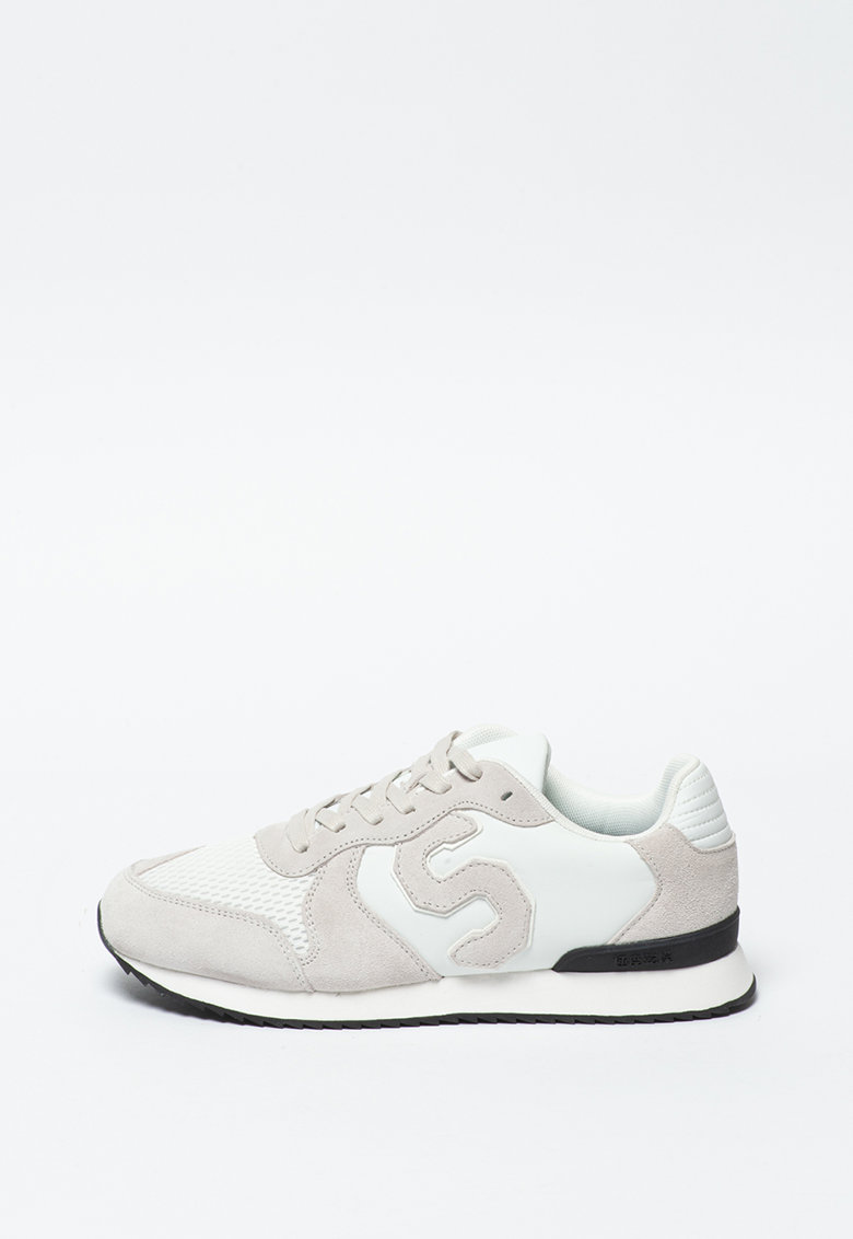 Pantofi sport cu garnituri de piele intoarsa Retro Runner