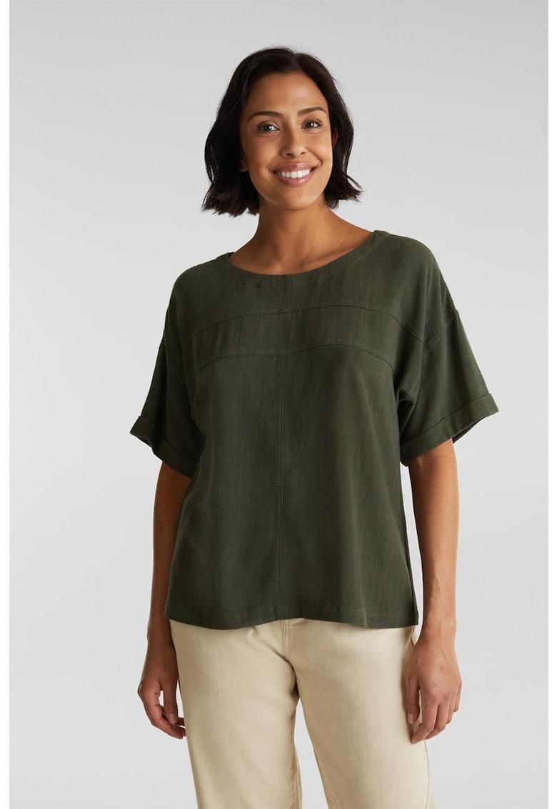 Bluza lejera din amestec de in imagine fashiondays.ro