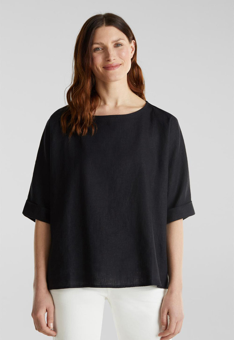 Bluza lejera din amestec de in imagine